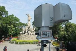广州亚运会安装景观摄像机现场
