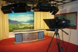 西藏林芝电视台演播室