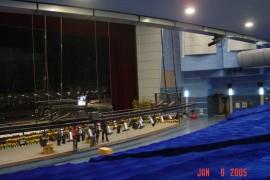 深圳电视台1800平米演播室施工现场